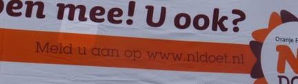 Vrijwilligersdag NL DOET 2012