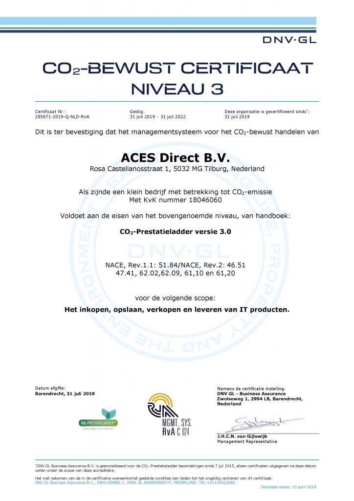 Certificering CO2 prestatieladder
